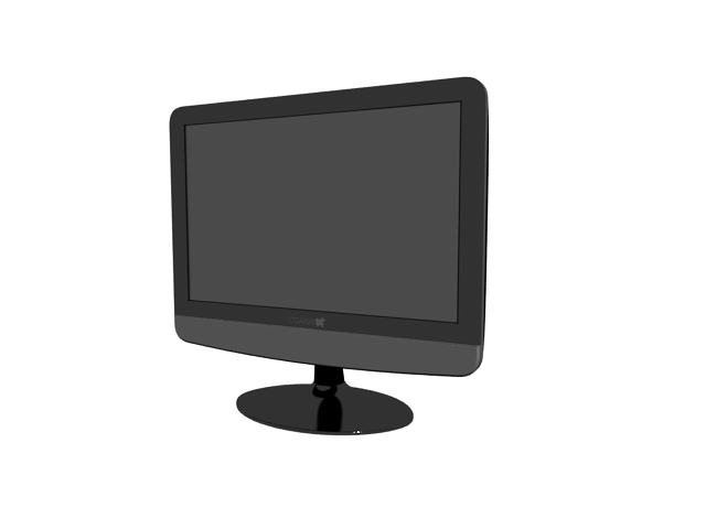 TFT LCD computer monitor 3d rendering