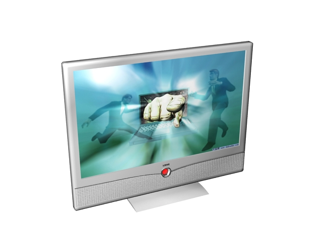 Loewe LCD monitor 3d rendering