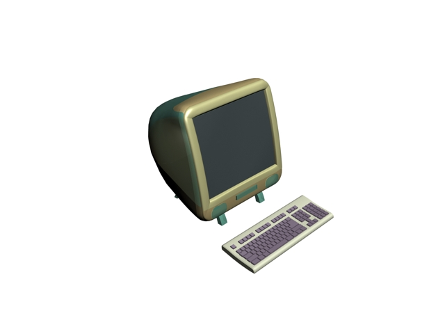 First iMac 3d rendering