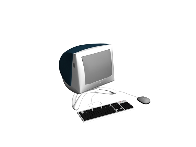 iMac G3 blue 3d model 3ds max files free download ...