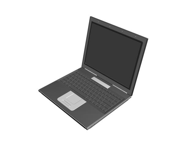 Modern laptop computer 3d rendering