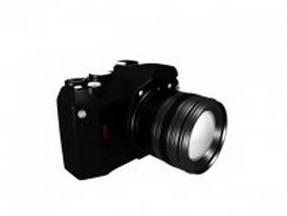 Single-lens reflex camera 3d preview