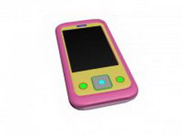 Touch screen mobile phone 3d preview
