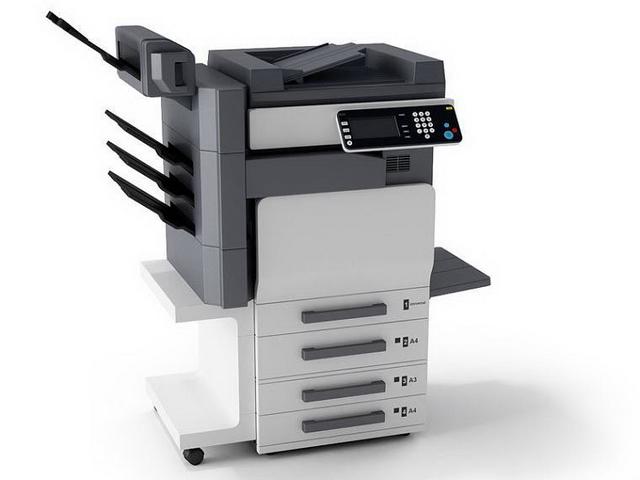 Multifunction photocopier machine 3d rendering