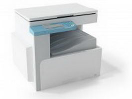 Photocopying machine 3d preview