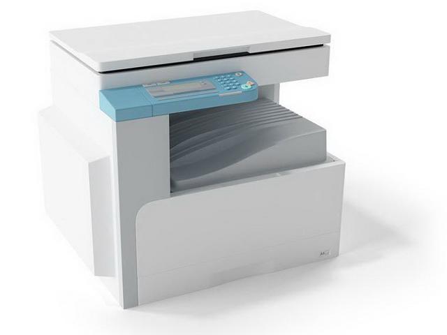 Photocopying machine 3d rendering