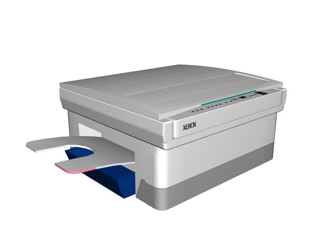 Xerox copier 3d rendering
