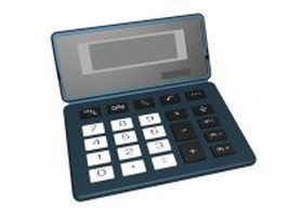Electronic pocket calculator 3d model preview