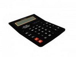 Basic calculator 3d model preview