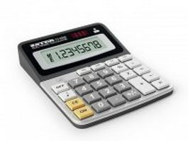 XSter electronic calculator 3d model preview