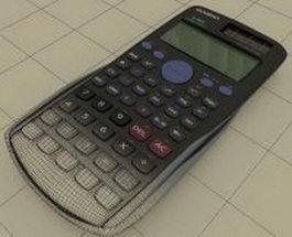 Casio scientific calculator 3d preview