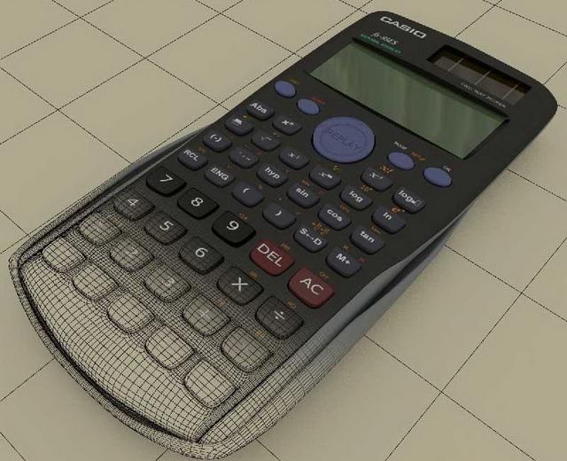 Casio scientific calculator 3d rendering