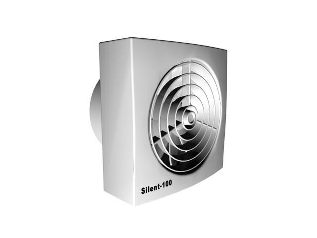 Square exhaust fan 3d rendering