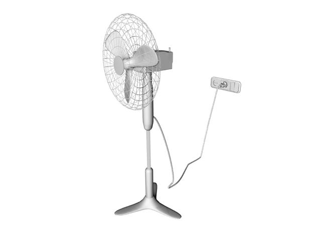 Household electric floor fan 3d rendering