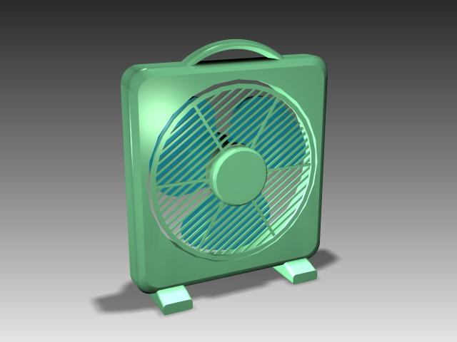 Plastic desk fan 3d rendering