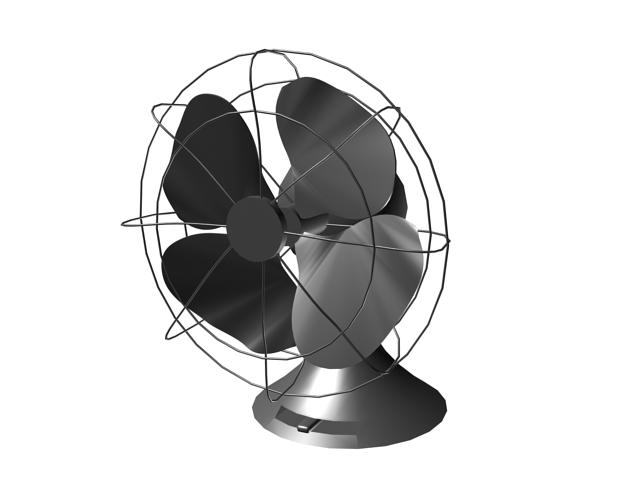 Vintage electric fan 3d rendering
