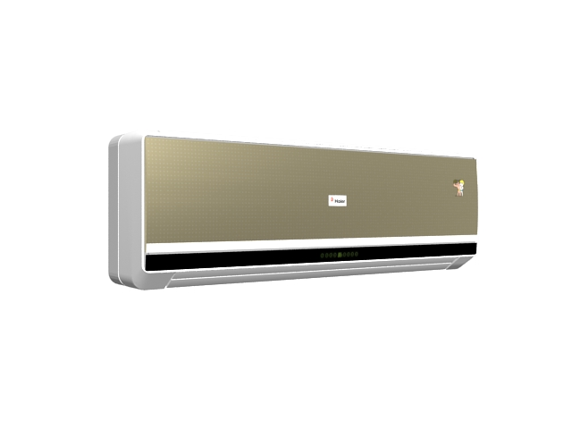 Champagne gold wall split AC 3d rendering