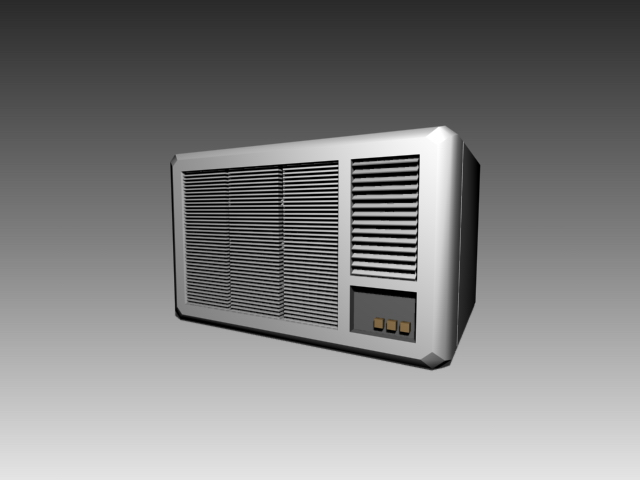 Air conditioning window unit 3d rendering