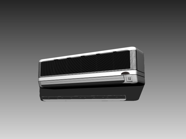 Wall air conditioning unit 3d rendering