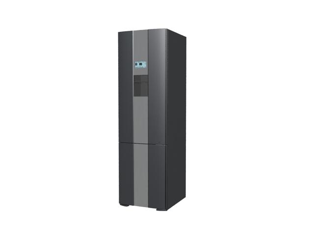 Black refrigerator 3d rendering