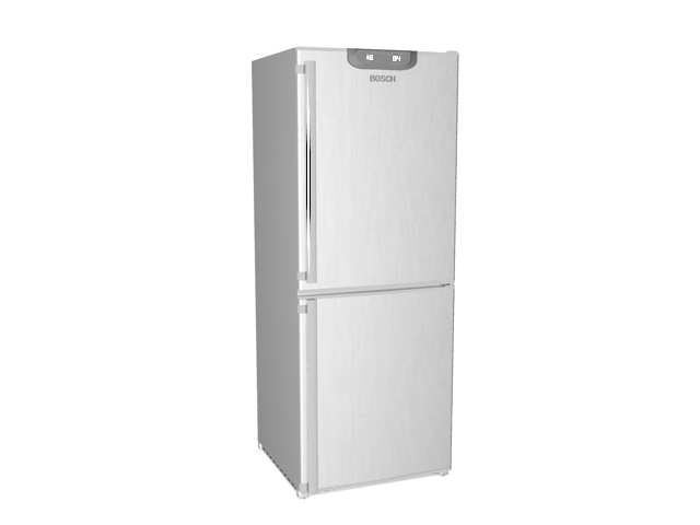 Bosch refrigerator 3d rendering