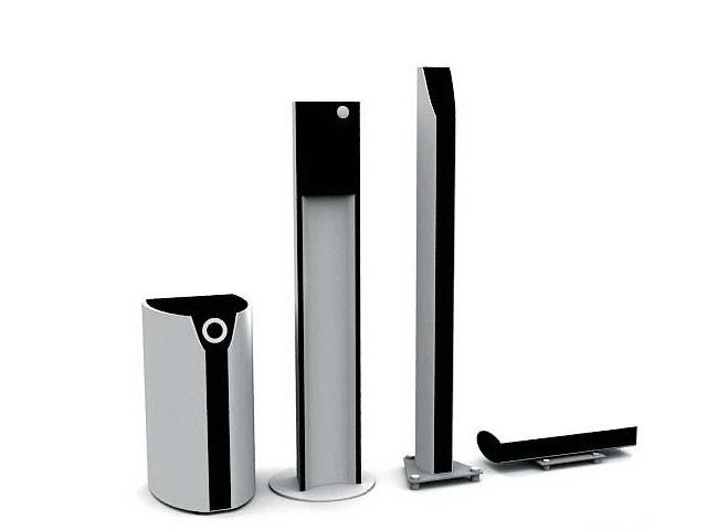 Home audio speakers 3d rendering