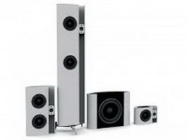 Home audio speakers 3d preview