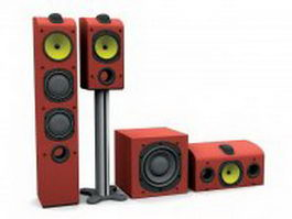 Home stereo speakers 3d preview