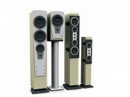 Home speaker towers 3d preview