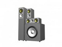 Home sound system 3d model preview