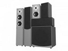 Professional DJ speaker system 3d preview