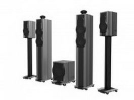 Surround speaker towers 3d preview