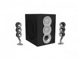 Desk speakers with subwoofer 3d preview