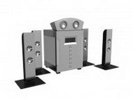 Desktop surround speakers 3d preview