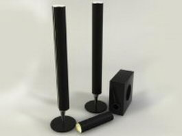Tower speaker system 3d preview