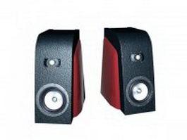 Vintage speakers 3d model preview