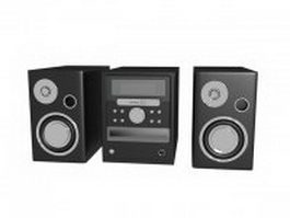 Desktop audio system 3d preview
