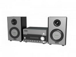 Hi-Fi sound system 3d preview