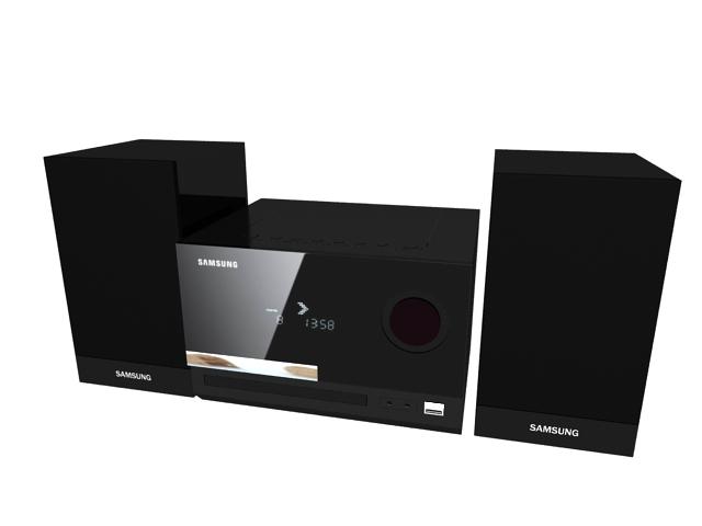 Samsung sound system 3d rendering