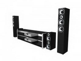 Home theatre audio system 3d preview