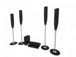 Tallboy 5.1 home theatre system 3d preview