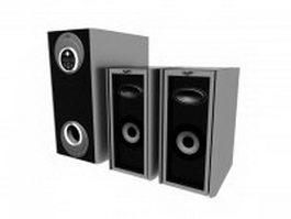 XORO sound system 3d model preview