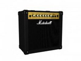Marshall Combo Amplifier 3d model preview