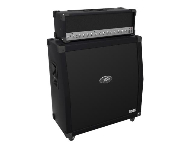 Peavey 6505 stack guitar amplifier and speaker 3d rendering
