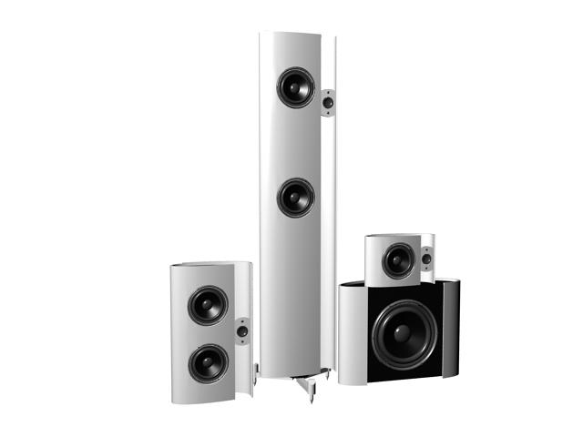 3.1 Channel Sound Bar System 3d rendering