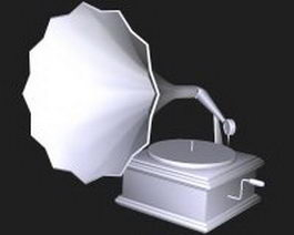 Victrola phonograph 3d preview