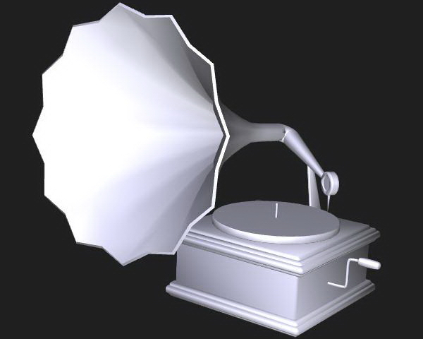 Victrola phonograph 3d rendering