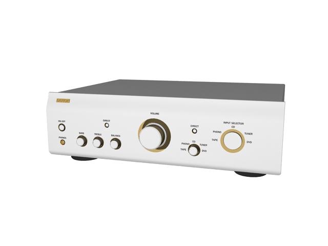 Denon amplifier 3d rendering