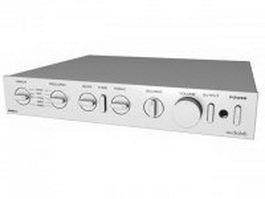 Audiolab 8000C preamplifier 3d model preview