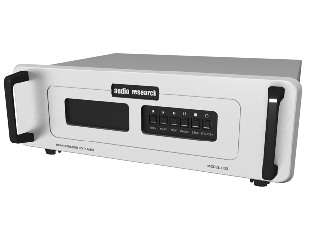 Audio Research high definition cd player 3d rendering
